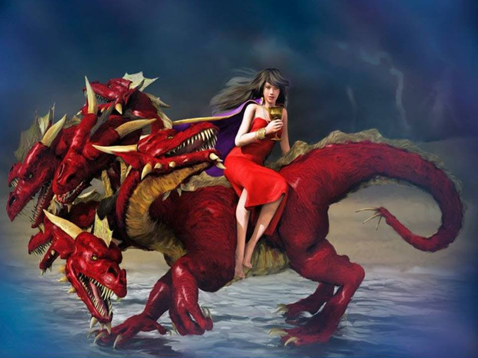 the woman riding the beast